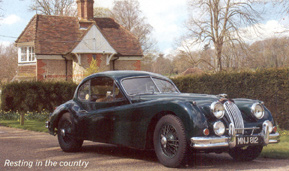 Jaguar Xk140 fitted with PIRELLI CINTURATO ™ 185VR16 CA67 in the country