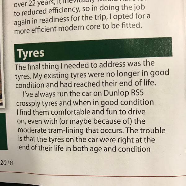 MK7 Jaguar Tyre