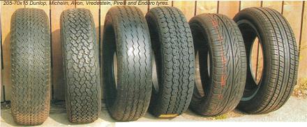 E-Type 205-70x15 Tyres