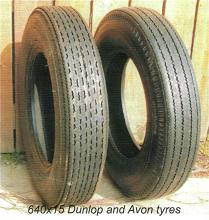 E-Type Dunlop and Avon Tyres