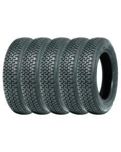Jeu de 5 165SR15 Michelin XZX