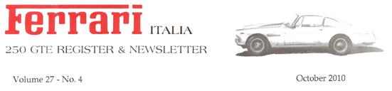 250 GTE Register & Newsletter