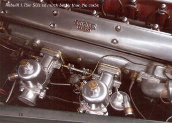 Jaguar XK 140 engine bay