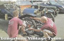 Dougal and Ian fit a Tyre
